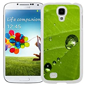 Unique and Fashionable Cell Phone Case Design with Grass Dew Closeup Galaxy S4 Wallpaper 3 in White