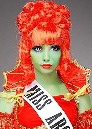 Magic Box Mujeres Beetlejuice Estilo Miss Argentina Peluca roja ...
