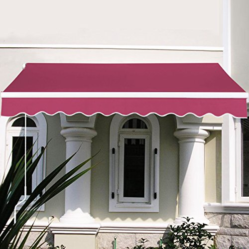 MTN-G 8.2'X6.5' Manual Patio Canopy Retractable Deck Awni...