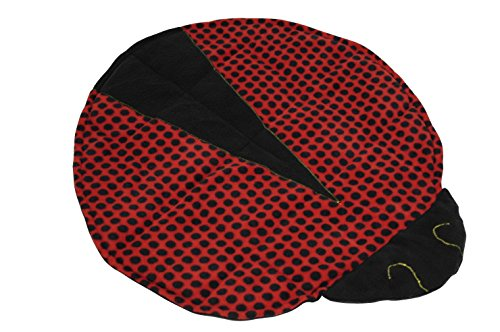 Abilitations Fleece Weighted Ladybug Blanket by Abilitations