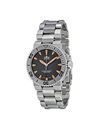 Oris Aquis Date Grey Dial Stainless Steel Mens Watch 733-7653-4158MB
