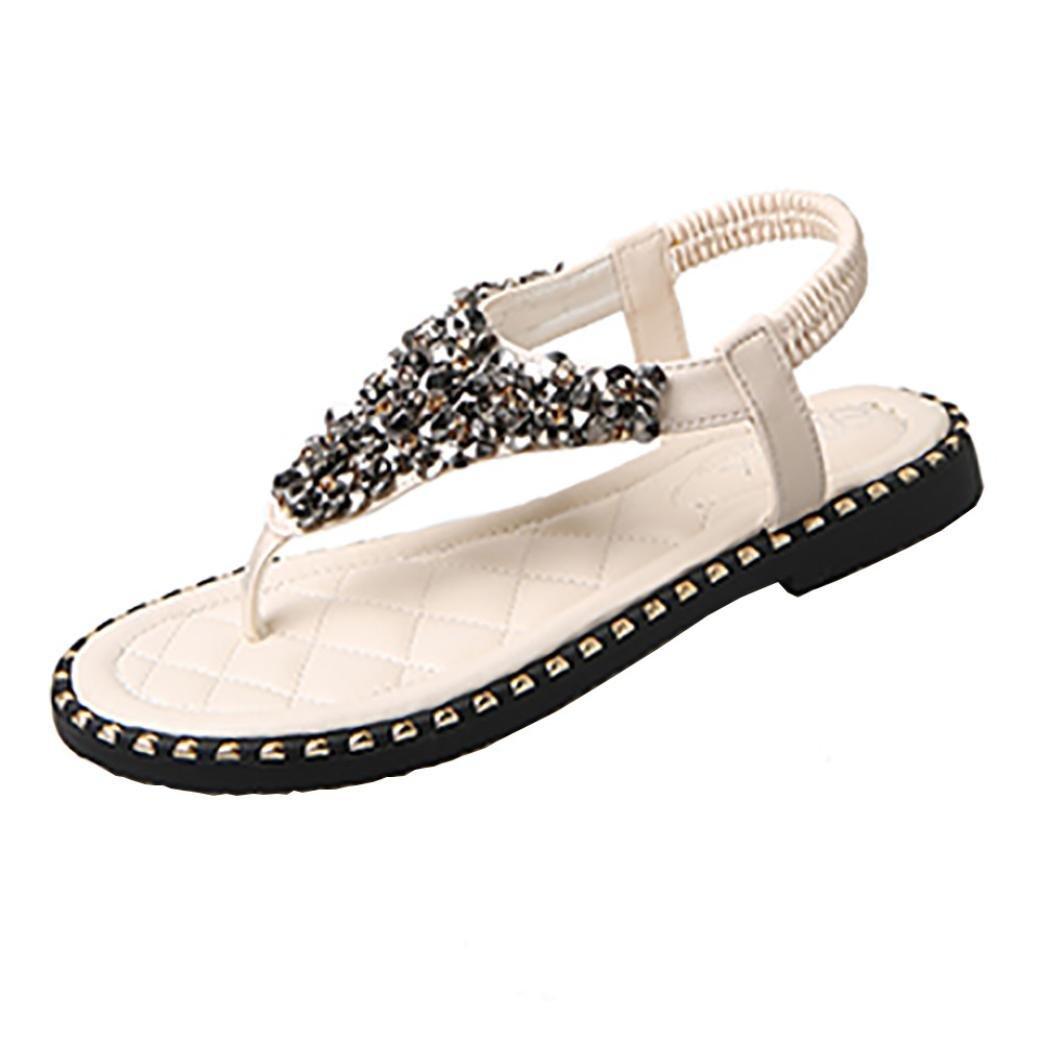 Damen Sommer Schuhe Xinan Bouml;hmen Blumen Flip Flop Sandalen  35|?wei?