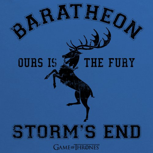 Official Game of Thrones - House Baratheon Camiseta, Para mujer Azul real