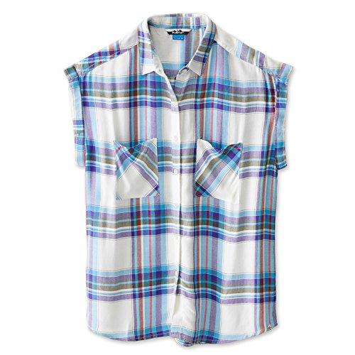 KAVU Women's Belfair Button Down Shirts, Meadow, Small ()