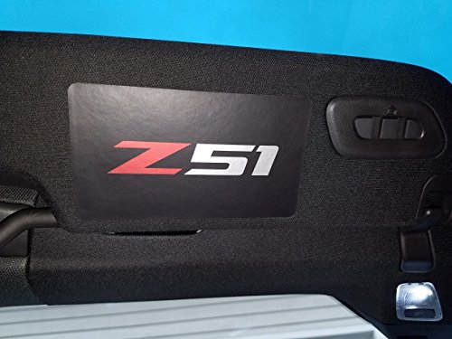 Corvette C7 Z51 Vinyl Sun Visor Overlay Blackout Decals – Black