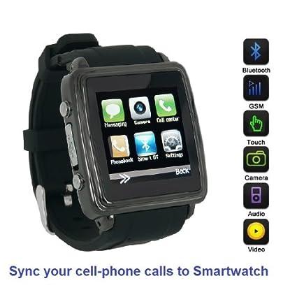 Amazon.com: SmartWatch (Black Case & Black Strap ...