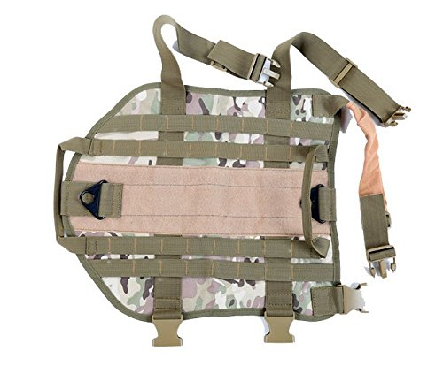 TACTICAL POLICE K9 DOG VEST HARNESS MOLLE USA MILSPEC CANINE HOOK US MILITARY Vest M-XL (M) by Pocket EDC Tool