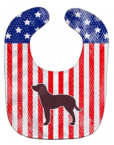 Caroline's Treasures Patriotic USA Baby Bib, American Water Spaniel, Large