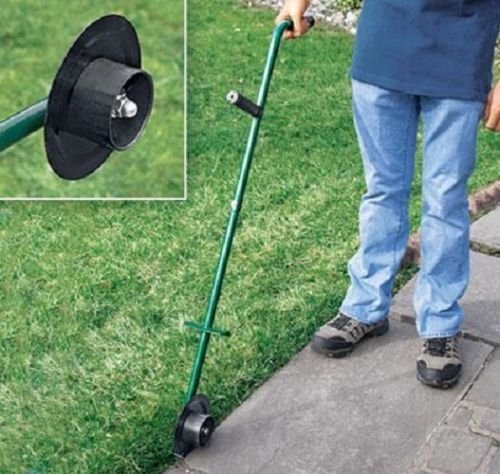 Buzzbuckkie Manual Lawn Edger Rotary Trimmer Handle Single Wheel Turf Trim & Edge Grass by Buzzbuckkie