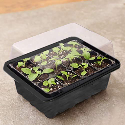 [AITREASURE] 8枚 育苗ポット トレー 育苗箱 苗箱 24個の植物ラベル付き(12 穴,8枚)