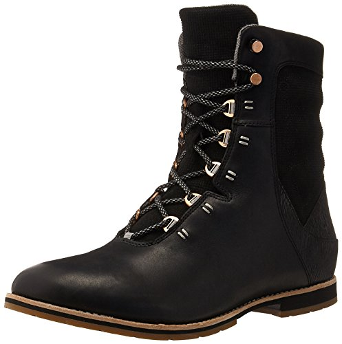 Ahnu Women's Chenery Lace Up Boot - Black - 10 B(M) US