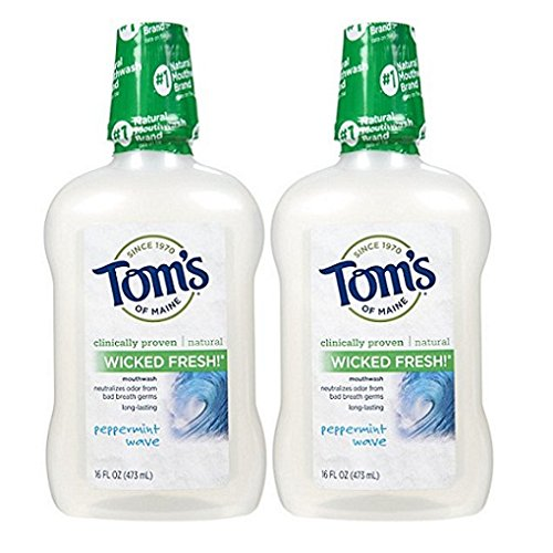 Tom's of Maine Long Lasting Wicked Fresh Mouthwash-Peppermin