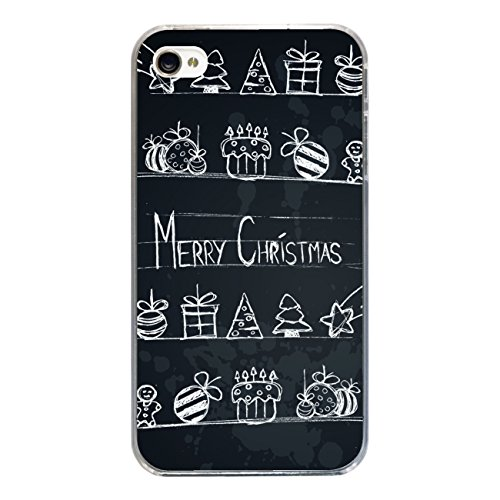 "Disagu Design Case Schutzhülle für Apple iPhone 4 Hülle Cover - Motiv ""Merry X-Mas Tafel"""