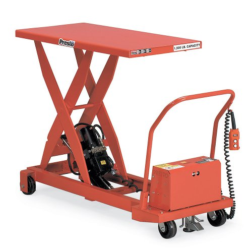 Presto Mobile Electric Scissors Lift Tables - 1500-Lb. Capacity - 24