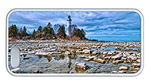 Cute iphone 5 case uncommon cover Coastal lighthouse blue sky TPU White for Apple iPhone 5/5S