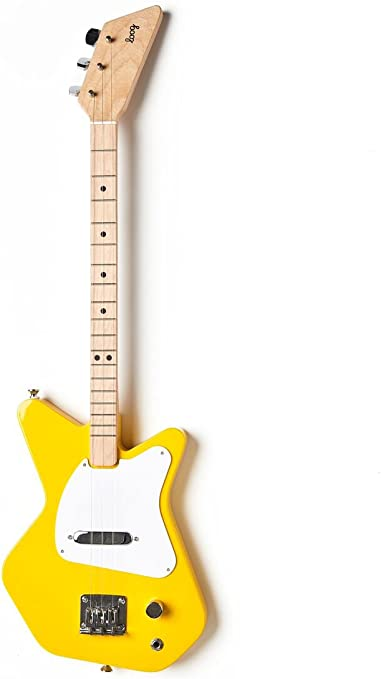 Loog Pro Electric Yellow 3-Stringed Solidbody Guitar with Strap