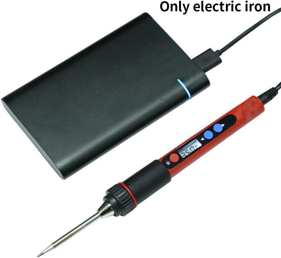 Soldmore7 Elektrischer L/ötkolben tragbarer USB-Schwei/ßreparatur-L/ötkolben LCD-Digitalanzeige Elektrisch einstellbares Temperaturschwei/ßwerkzeug Ber/ührungsschaltertyp