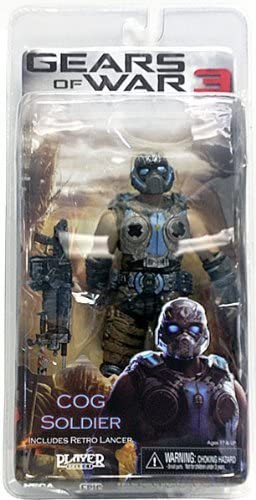 Gears of War 3 Series 3 COG Soldier with Retro Lancer 7 Inch ...