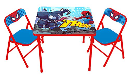 Spider Man Table - Spiderman Spider-Man Super Hero Adventures Activity Table Set with 2 Chairs Play Two, Spiderman