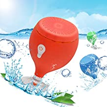 IPX6 Waterproof Portable Wireless Mini Bluetooth Speaker 3.0 with 24-Hour Playtime, 66-Foot Bluetooth Range, Perfect Speaker for Dancing,Beach,Shower & Home(Red)