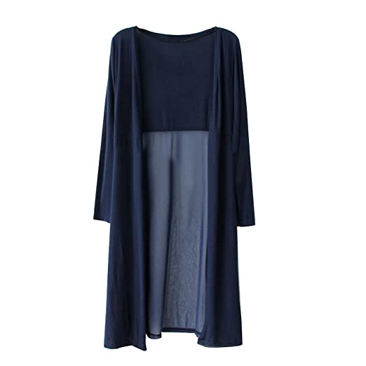 OverDose mujer Boho Beach Gasa Larga Cardigan Kimono OtoñO Tops Kaftan Maxi Abrigo Informal Abrigo Largo: Amazon.es: Ropa y accesorios