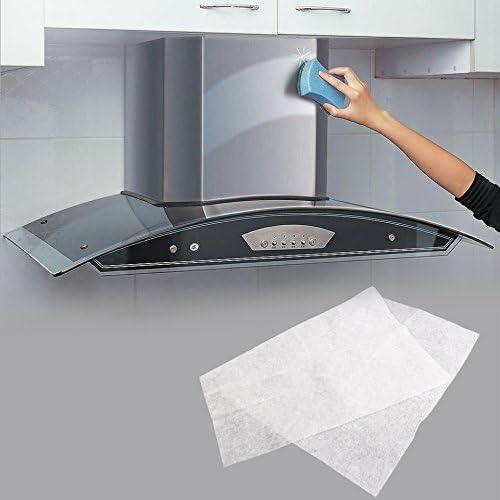 BrookfendiFR - Filtro Universal para Campana extractora, Apto para Todas Las Campanas de Cocina Essentials, Color Blanco: Amazon.es: Hogar