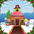 Wallmonkeys Snowy Gingerbread House Wall Mural Peel and Stick Holiday Graphics WM290912
