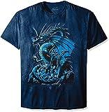 The Mountain Skull Dragon T-Shirt, 3X-Large, Blue
