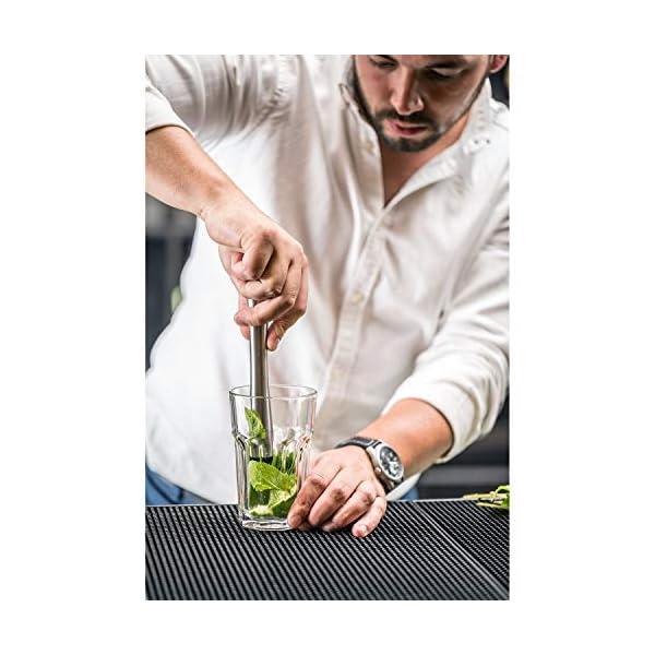 Cresimo Kit Pestello Cocktail E Cucchiaino Professionale – Set Barman Pestello Muddler 25 Cm Cucchiaino Con Manico Ad… 3 spesavip