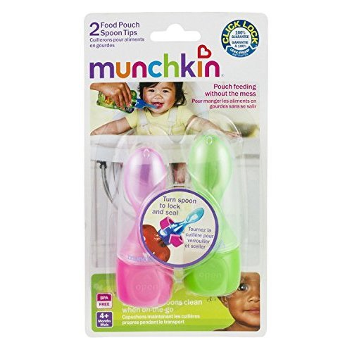 Munchkin Click Lock Food Pouch Spoon Tips - 2 Pk - Girl