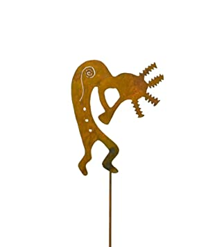 Kokopelli/Southwestern dekorativer Metall Gartenstecker ...