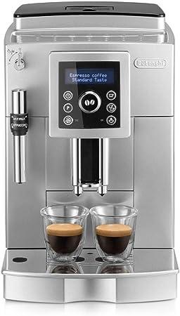 Oferta amazon: De'longhi ECAM 23.420.SB - Cafetera Superautomática 15 Bares de Presión, Espresso y Cappuccino, Depósito de Agua Extraíble 1.8 l, Panel LCD, Dispensador de Café Ajustable, Limpieza Automática, Plata