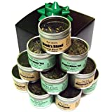 Assorted Tea Sample Gift Set. 10 Tins of Gourmet Loose Leaf Tea