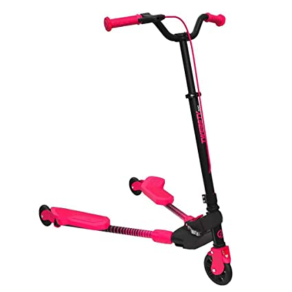 AODI 3 Wheel Scooter Foldable Kick Scooter Self Push Motion Speeder Outdoor S...