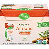 Pacific Foods Organic Almond Non-Dairy Beverage, Original, 8-Ounce, (Pack of 12)