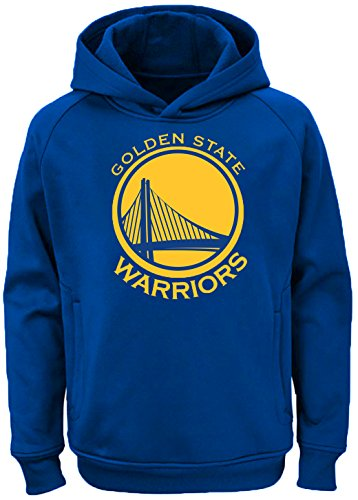 Outerstuff NBA Youth Team Color Performance Primary Logo Pullover Sweatshirt Hoodie (Medium 10/12, Golden State Warriors) ()