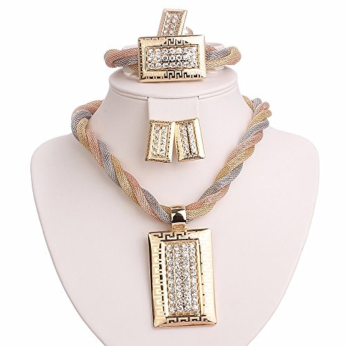 Gold Square Jewelry Set - 9