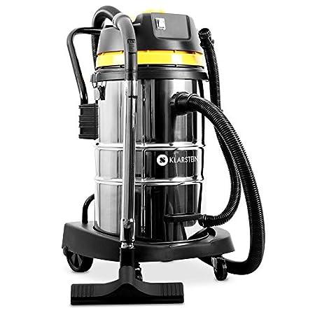 Klarstein IVC-30 /• Aspirapolvere industriale /• Aspirapolvere /• 1800 W /• Protezione IP X4 /• Contenitore acciaio inox 30 litri /• Doppio filtro /• Sistema soffietto /• Base in plastica /• argento-giallo
