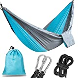 Korotus Portable Parachute Hammock for Backpacking, Camping, Hiking, Travel, Beach, Yard - Ultra Lightweight Nylon