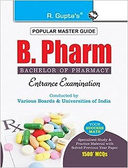 buy b pharm bachelor of pharmacy entrance exam guide entrance