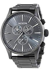 Nixon Sentry Chronograph All Gunmetal Mens Watch A386632