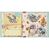 Japan Walt Disney Official Dumbo - Dumbo & Timothy Q. Mouse Blue Cover Pink Album Book Style Sticky Notes Memo Collection Classic Art Character Sheets Planner Sticker Bookmark Marker Flag Post-it