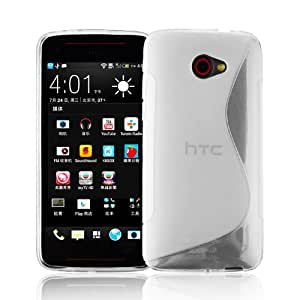 Cadorabo – Silicone Case S-LINE SLIM-FLEX for HTC BUTTERFLY S – Etui Cover Protection Bumper Skin in SEMI-TRANSPARENT