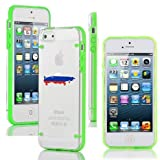 Apple iPhone 4 4s Ultra Thin Transparent Clear Hard TPU Case Cover Russia Russian Flag (Green)