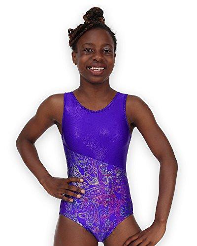 Pelle Leap Gear Gymnastics Leotard - Switch/Grape Paisley - C ()