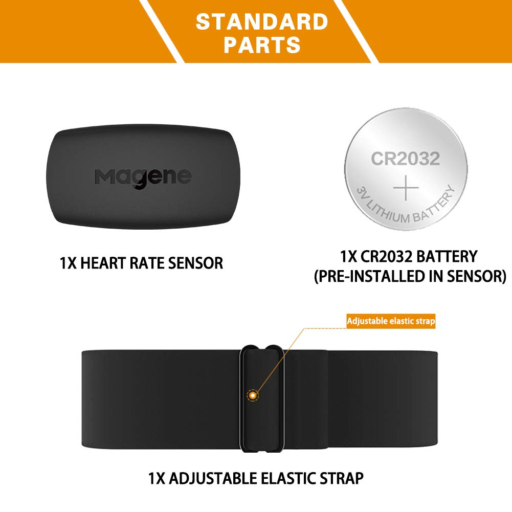 Outdoor Recreation Safety Gear Magene H64 Heart Rate Monitor Chest ...