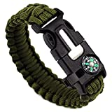 Best Survival Whistle With Leather Necklaces - Bracelet,Pikolai 5 in 1 Outdoor rope Paracord Survival Review