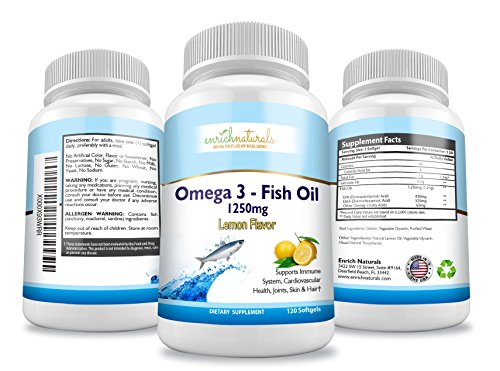 Enrich naturals omega 3 fish oil lemon flavor softgels for Fish oil joint pain