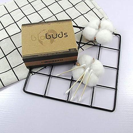 BIObuds almohadillas compostables perfectas para limpieza y maquillaje 2 cajas de 200 hisopos biodegradables cada una Bastoncillos de algod/ón org/ánico