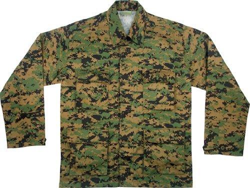 Woodland Camo Bdu Military Shirt - 8